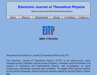 Electronic Journal of Theoretical Physics EJTP