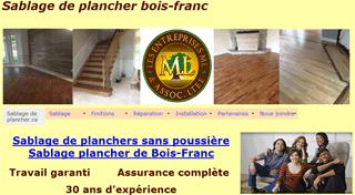 Sablage de planchers de bois franc � Montr�al r�paration et installation.
