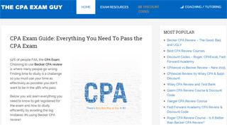 CPA Exam Guide