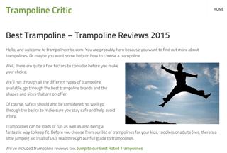 Trampoline Critic