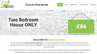 Bliss Cleaning | Carpet Cleaners in London