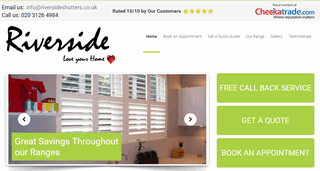 Riverside Shutters - London Window Shutters