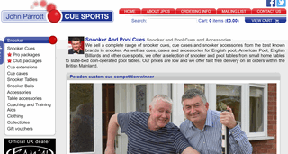 John Parrott Cue Sports � Snooker Cues and Pool Cues