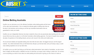 Online Betting Australia - Mobile Sports Betting Offers Online