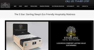 Visit Sterling Sleep Hospitality for 5 Star Beds