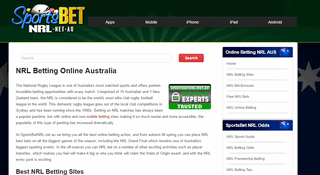 NRL Betting Online Australia