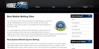 NZ Betting Sites for Mobile