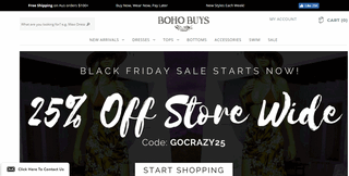 Boho Clothing at Boho Buys