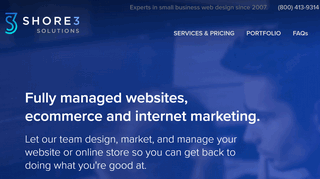Shore3 web design, ecommerce and seo for small businesses and startups