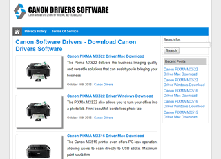 Canon Software Drivers