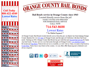 Orange County Bail Bonds Santa Ana California