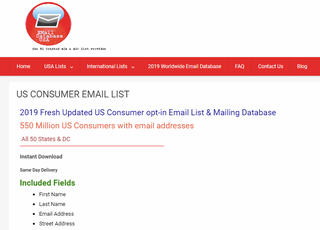 Consumer List, USA Consumer Email Database. Consumer Email Lists, Consumer Email Database, Buy Consumer Email List