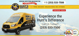 Hunt's Services Tacoma Plumber Seattle Plumbing Sewer Repair HVAC Electrical