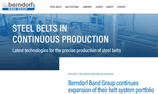 Berndorf Band Group - Steel belts & systems