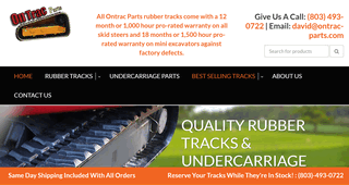 Ontrac Parts Rubber Tracks and Undercarriage Parts