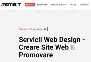 Creare site de prezentare cu Web Design in Timisoara - Remsit